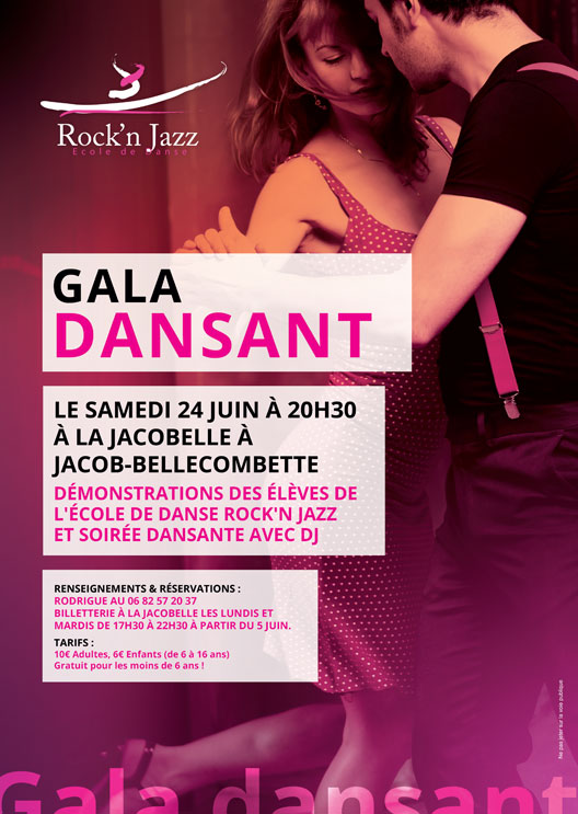 Affiche gala dansant Chambéry